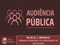COMUNICADO DE AUDIÊNCIA PÚBLICA