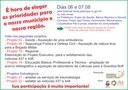 Consulta Popular dias 06 e 07 de julho
