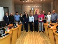 Sindilojas Nova Prata visita Câmara Municipal de Vereadores de Vila Flores